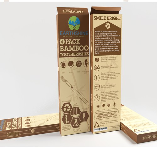 Fun and playful box for Earthshine Bamboo Toothbrushes