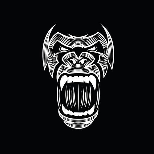 Apparel Silverback Gorilla Design that connotates ANGER + VENGEANCE