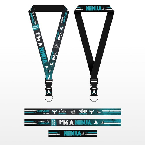 Support Ninja lanyard design