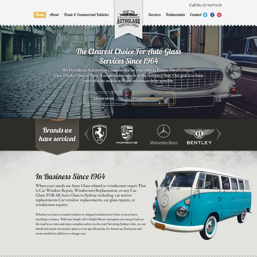 Retro Web design Concept