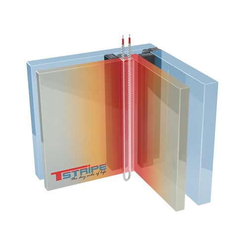 Make a cool 3D Grafik for a unique product: T-STRIPE window heating System!