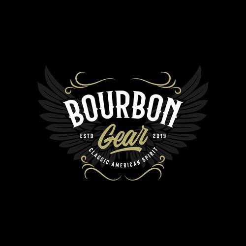 concept logo for bourbon gear