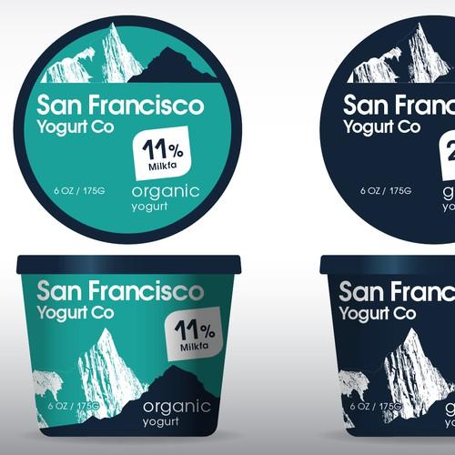 Design packaging for San Francisco Yogurt