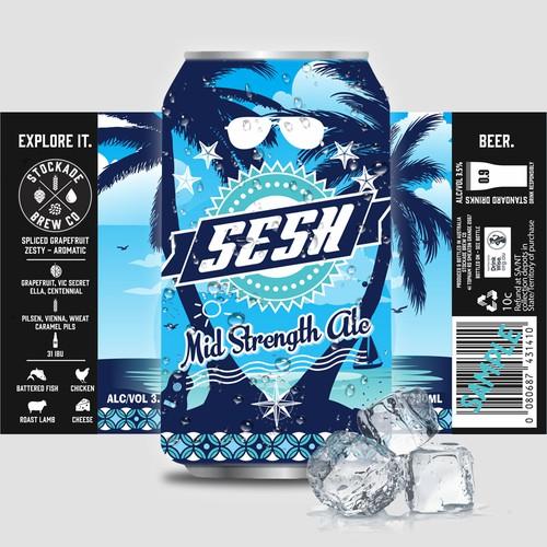 SESH Beer Label Design