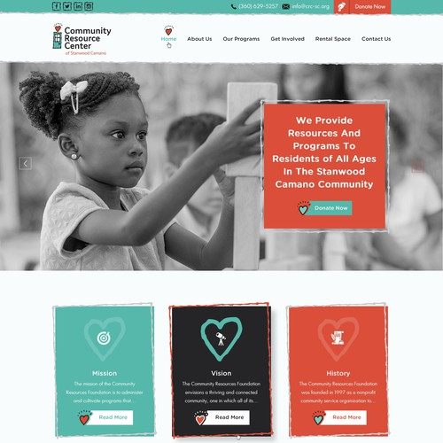 Appealing and modern website for Community Resource Center