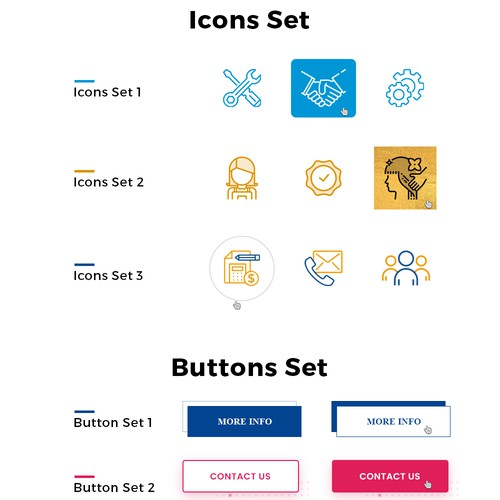 icon and button