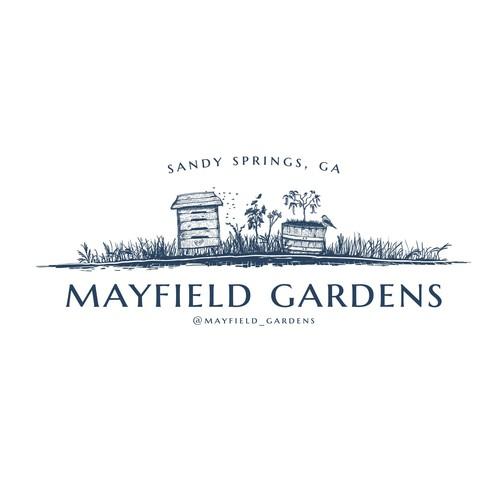 Hand drawn garden logo