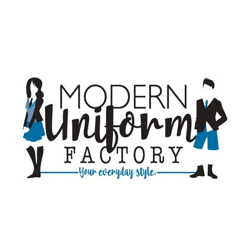 logo illustration for: modern uniform factory