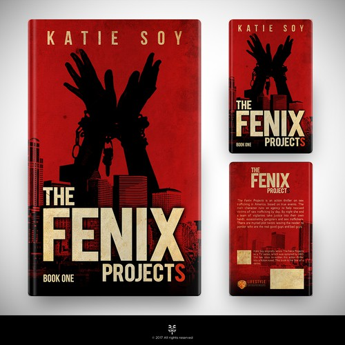 Cover design for action thriller novel