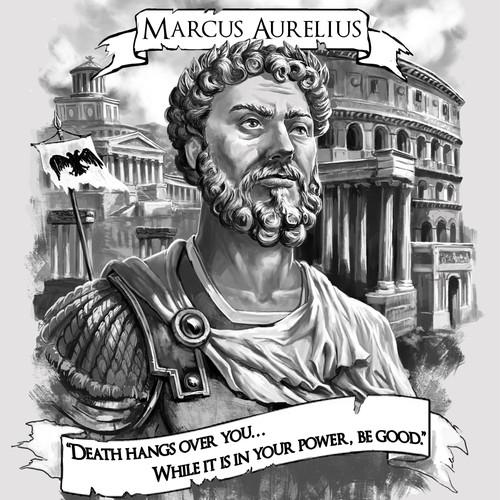 Marcus Aurelius tattoo design