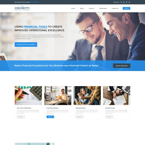 Home Page design for Cinncinati CFO