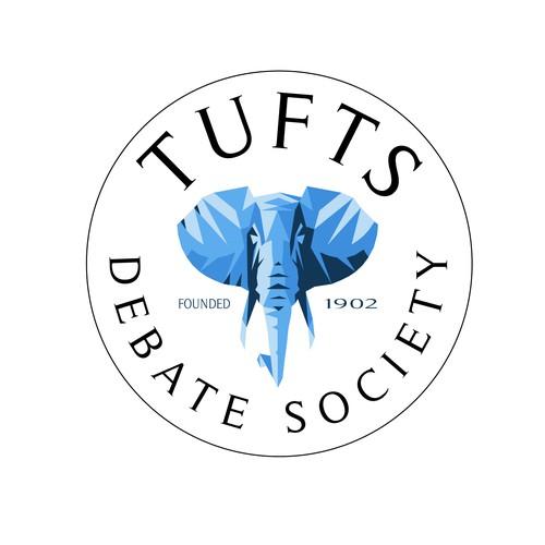 Tufts University Debate Society Logo Entry