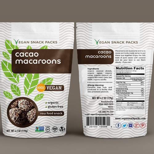 Fully Designed Vegan Snack Bags