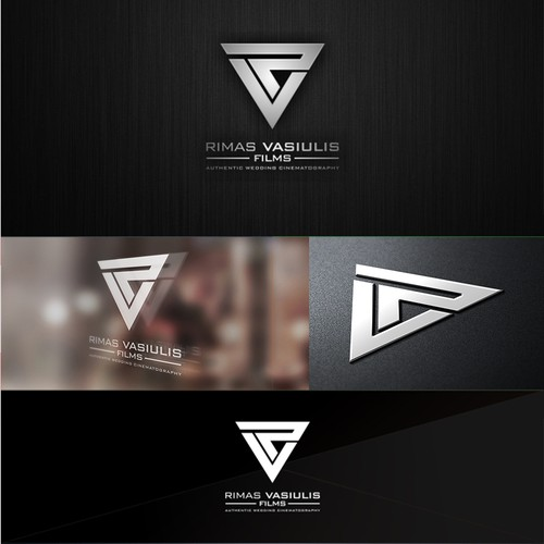 Create a sharp looking modern logo for Rimas Vasiulis Films