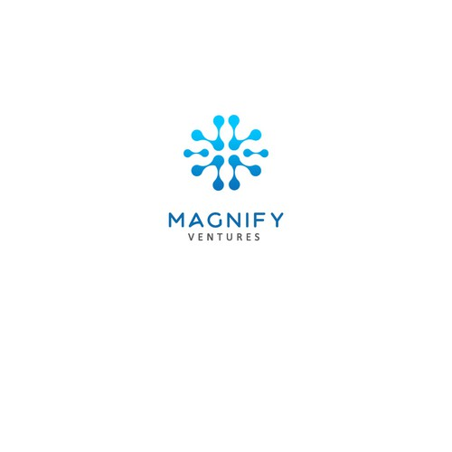 Modern concept logo for Magnify Ventures