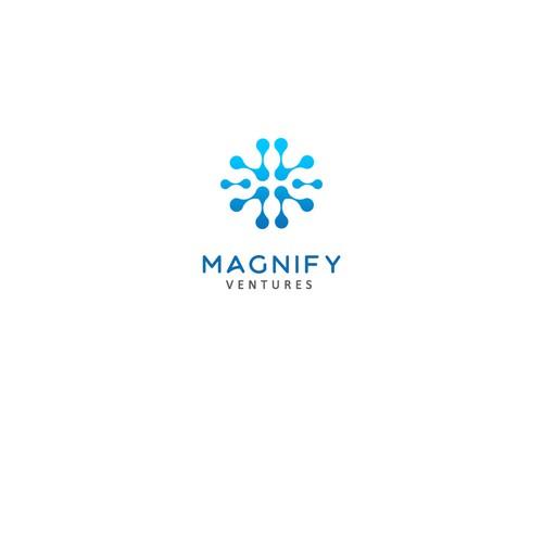 Modern concept logo for Magnify Ventures