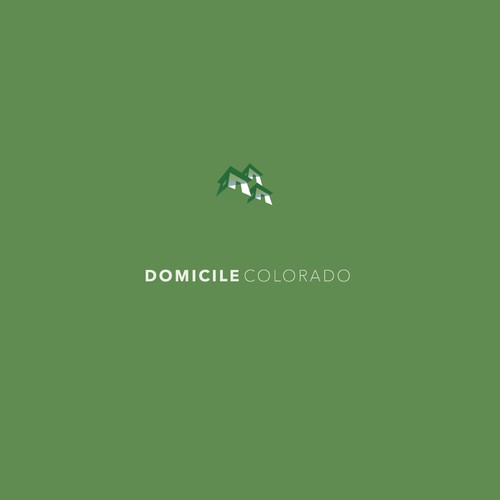 Creative, sophisticated logo for a company that sells homes in Colorado