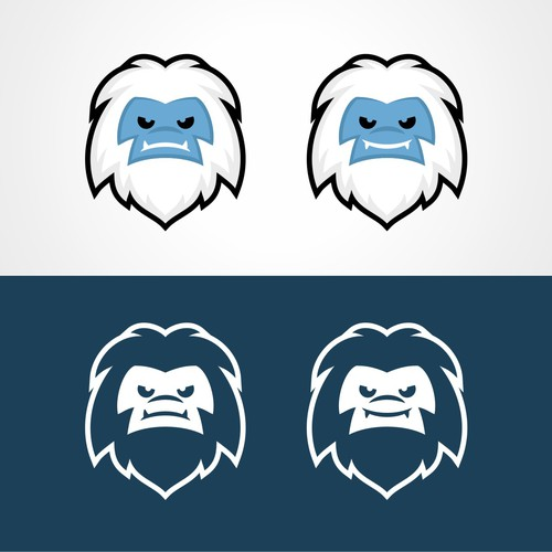 Vector illustration of Yeti face for winter apparel company