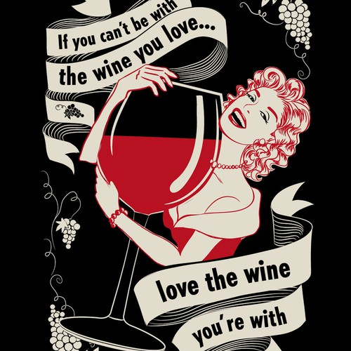 Create A Vintage Wine T-shirt for women - This Winning Image Will Be Famous