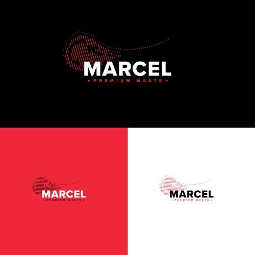 Different logo design concept for a meat shop.