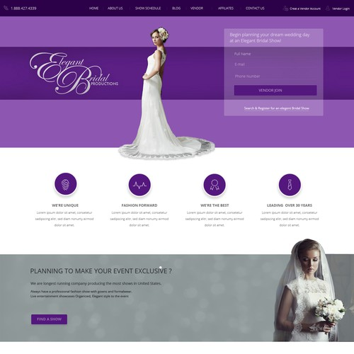 Clean and elegant design needed for Wedding Shows