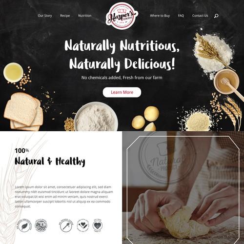 Website design for bread company