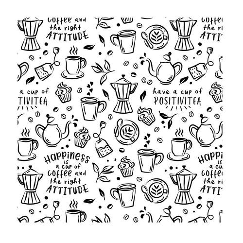 Doodle style illustration for a mug