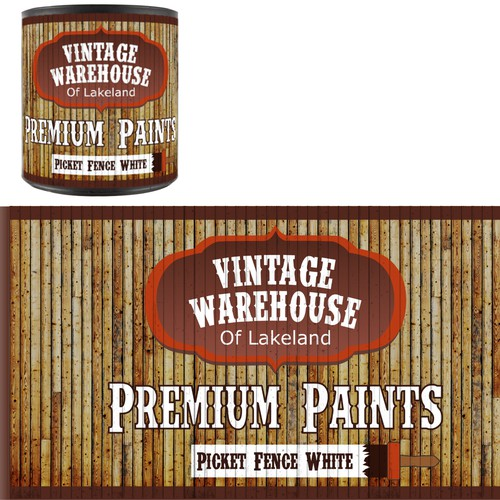 Paint Can Design for Private Paint Line - Light Wood