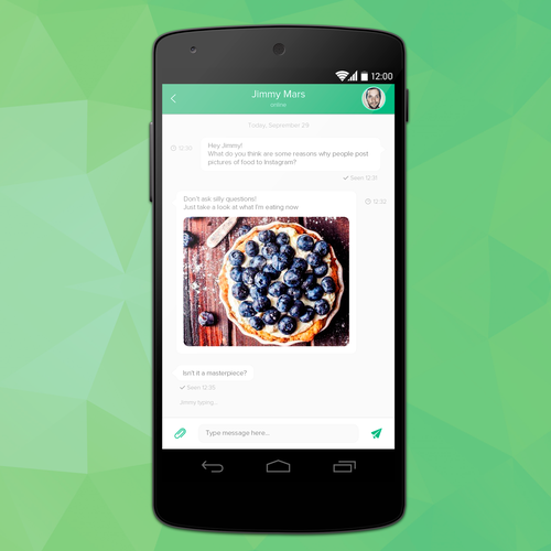 Messaging mobile app.