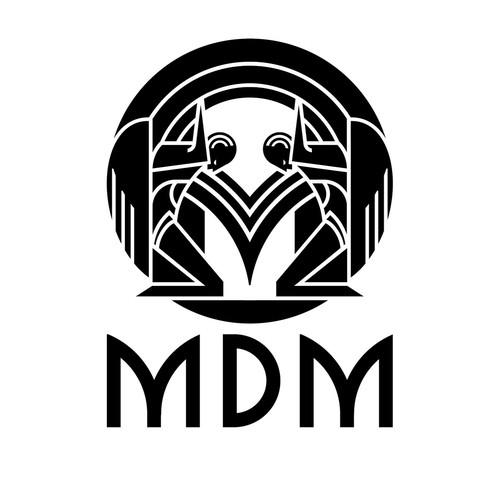 Artdeco style logo for MDM NYC