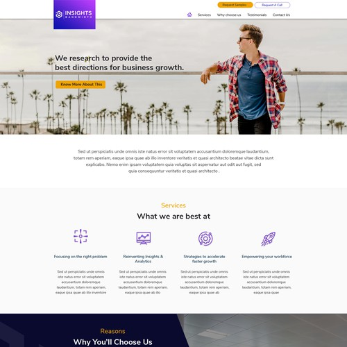 Web design for B2B Projects