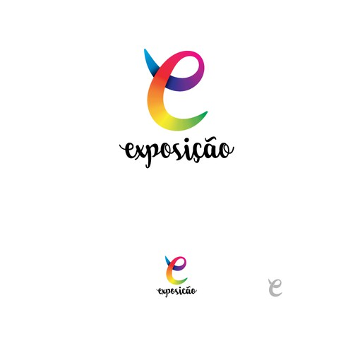 Multicolor Letter with whimsical typeface