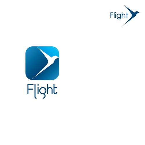 Create a simple yet powerful logo that conveys breakthrough and achievement for Flight