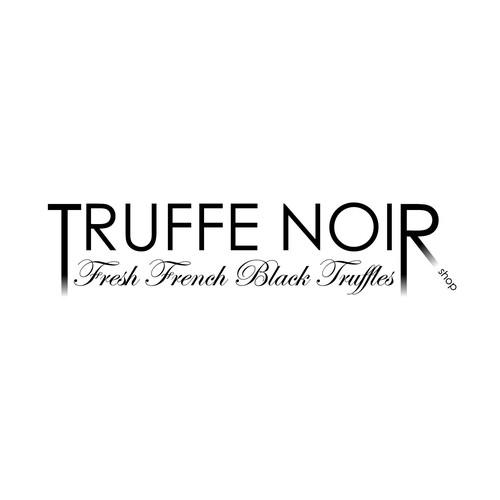 Logo concept for a truffle shop