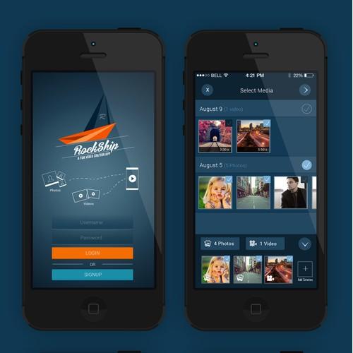 Redesign and refine RockSkip, a fun video creation app
