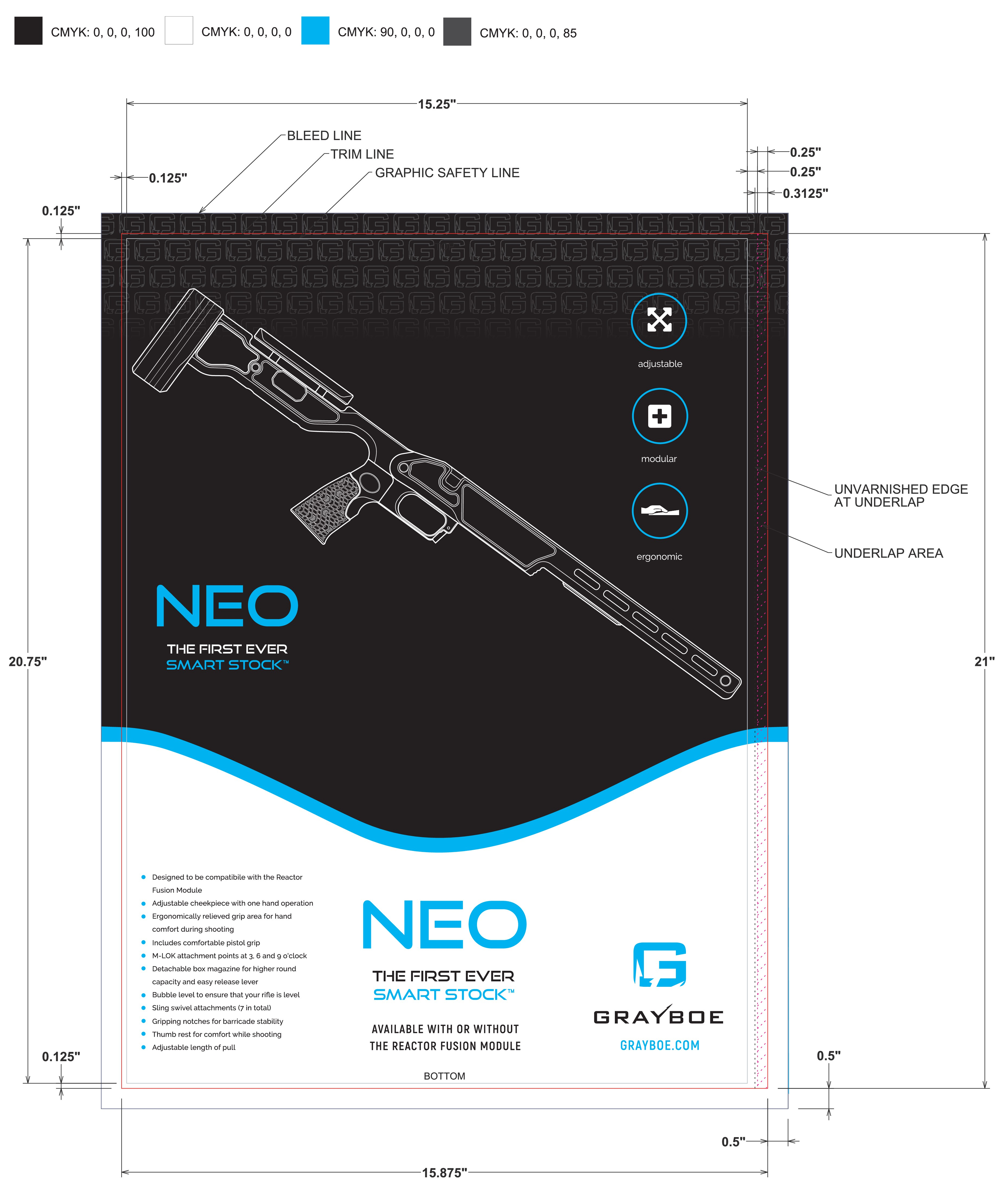 Packaging Design for Technology-based Firearms Company