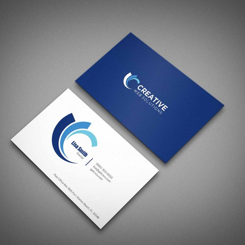 Business card design from existing logo
