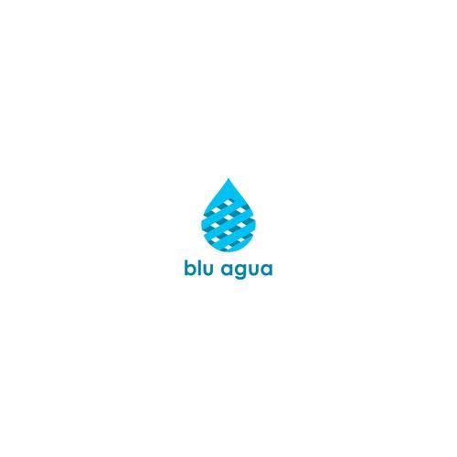 Logo blu agua