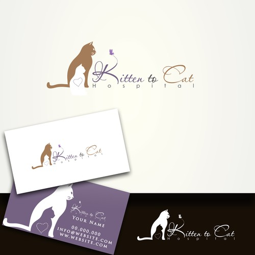 Create the next logo for Kitten to Cat Hospital