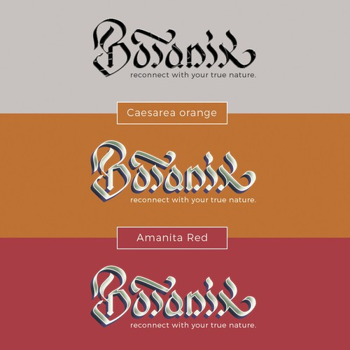 BOTANIK logo handlettering