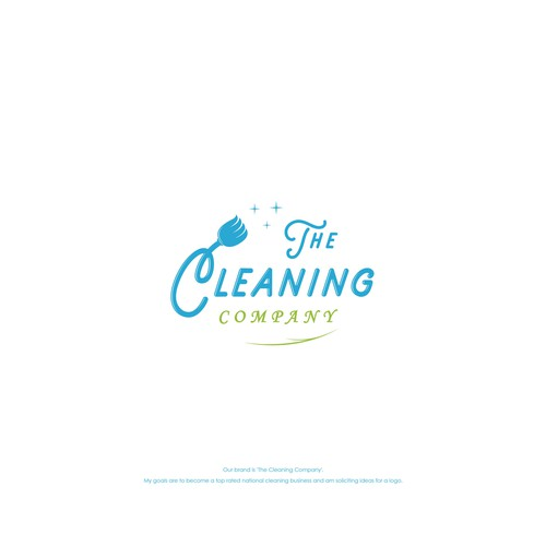 Logo concept for The Cleaning Company