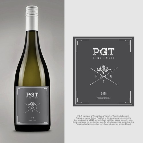 P.G.T logo Label