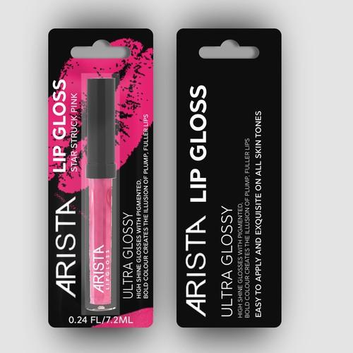Arista Lip Gloss Blister Pack Design
