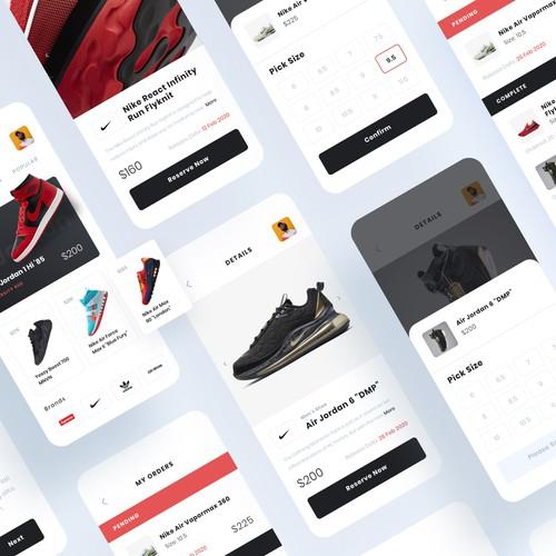 Sneaker App Design