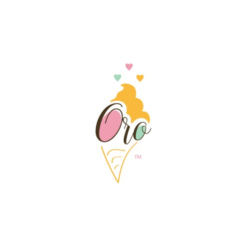 Oro Ice-cream Logo.