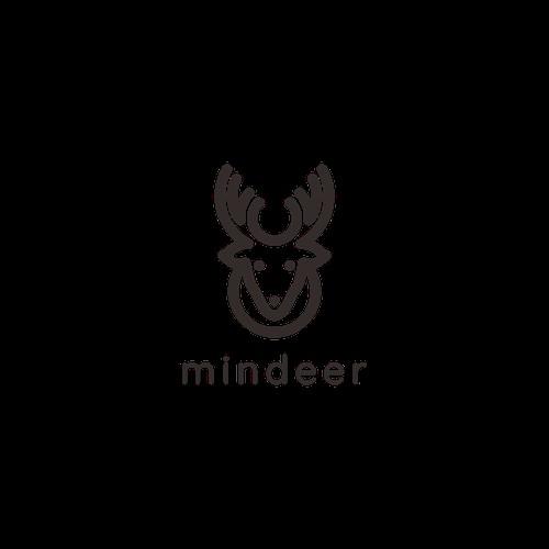 mindeer logo with monoline style.