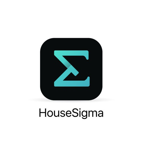 Clean app icon design for HouseSigma a mathematical modelling of house investment.