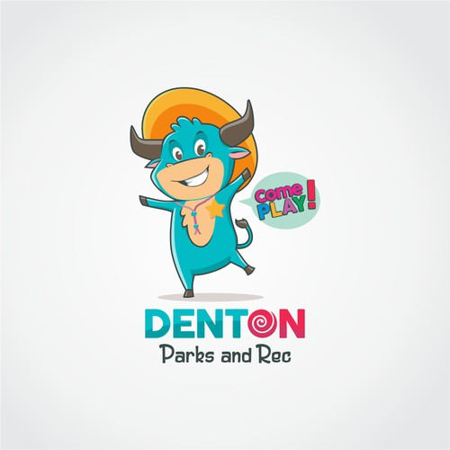 Concept logo for Denton Park and Rec