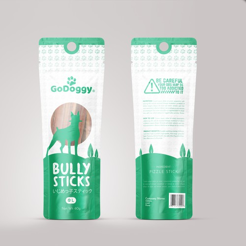 Bully sticks packaging design