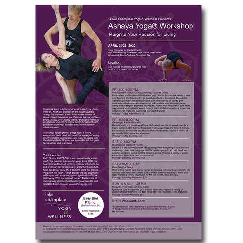 Yoga Workshop Poster